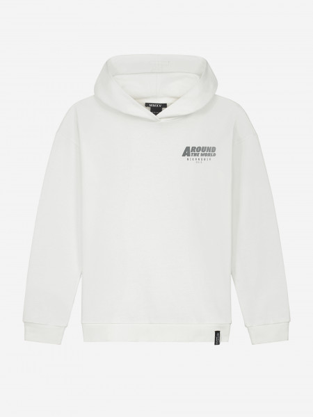 HOODIE WITH SMALL ARTWORK