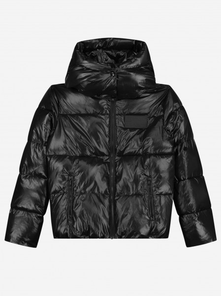 Puffer jacket with artwork