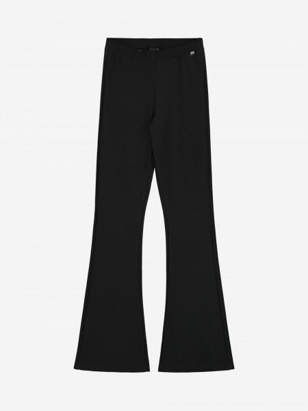 zwarte legging met uitlopende pijp