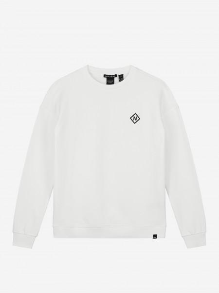 Witte sweater met artwork