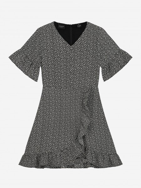 WRAP DRESS WITH ALL OVER PRINT