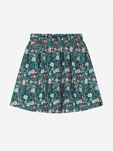 SKIRT WITH ALL-OVER FLOWER PRINT
