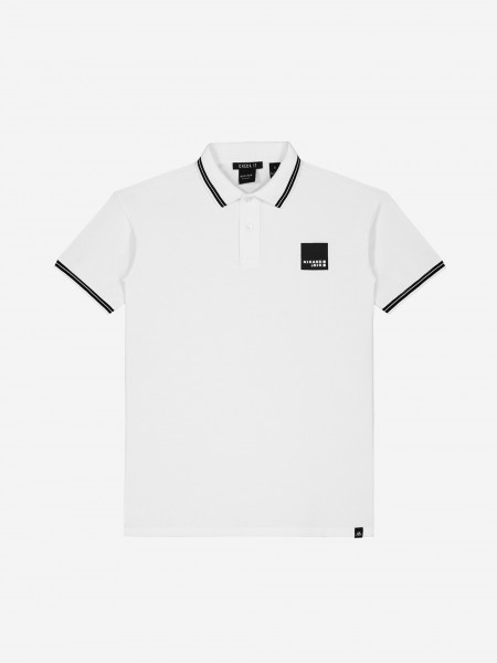 Off white polo with artwork