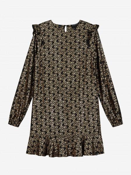 Black dress with golden pattern