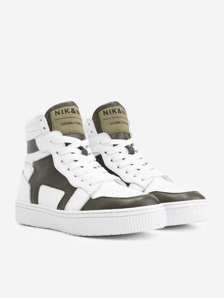 Hoge Sneaker met Donkergroen