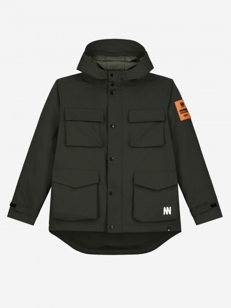 JACKET WITH POCKETS AND PATCH