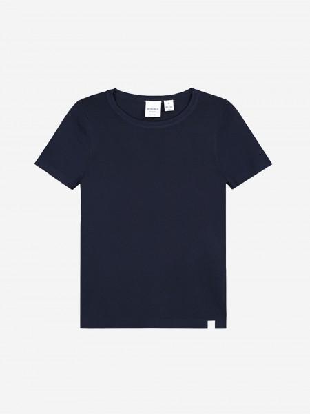 Donkerblauwe top met korte mouwen