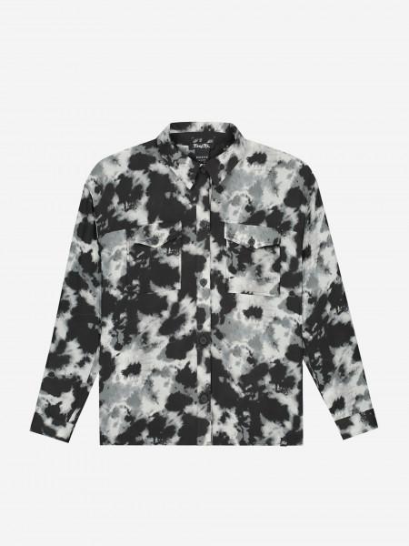 Blouse with tie dye print