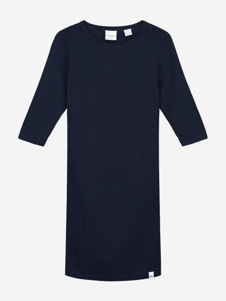 Navy jurk met driekwart mouwen