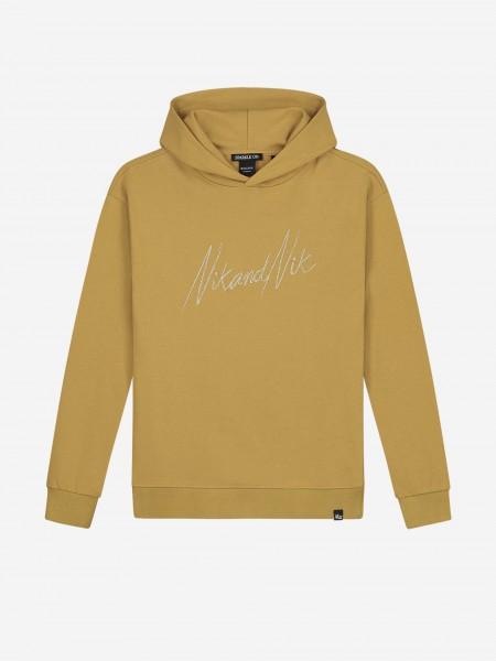 Goudkleurige hoodie met NIK&NIK borduurwerk