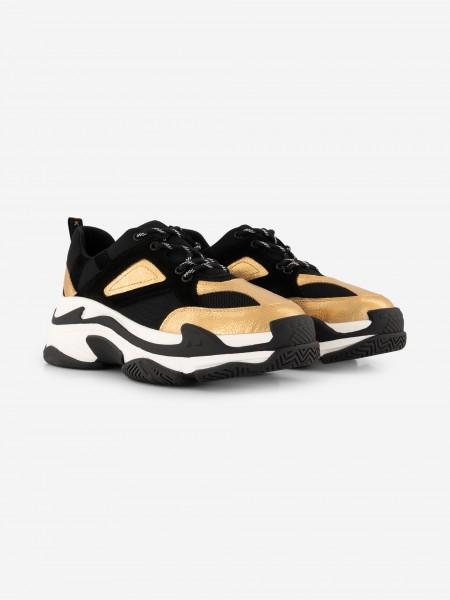 Chunky sneakers zwart/goud