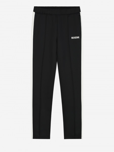 TRACK PANTS WITH STRIPE AND ARTWORK