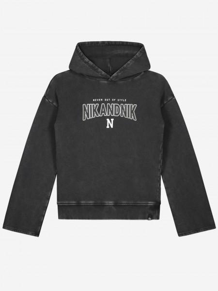 Verwassen hoodie met artwork