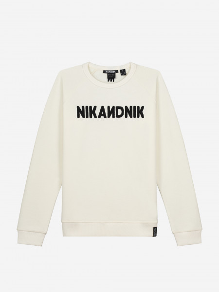 Sweater with embossed logo