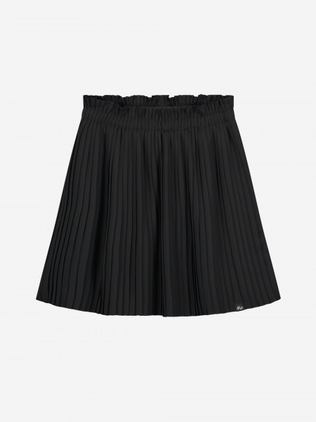 Skirt with plisse pattern