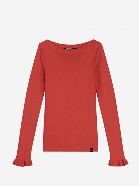 TOP WITH BOATNECK