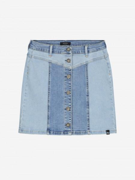 Two toned denim skirt