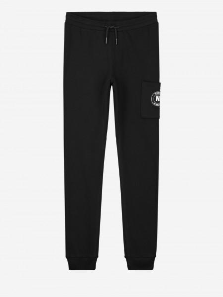 Zwarte sweatpants met logo patch