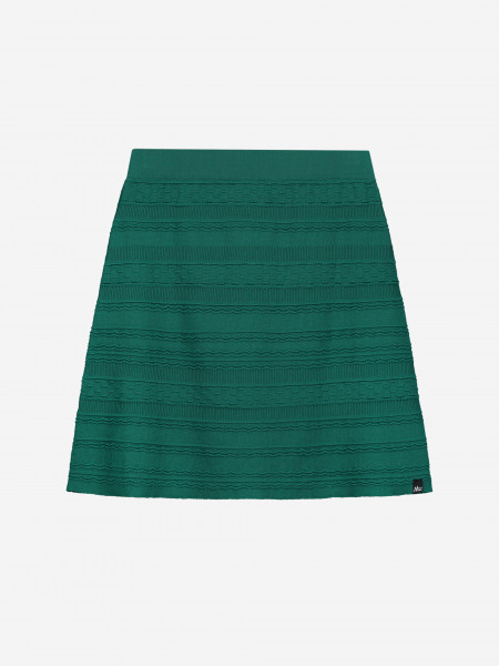 Skirt with knitted pattern