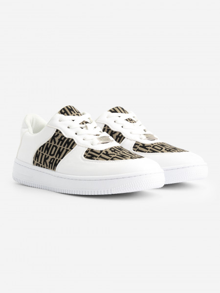 White sneaker with knit