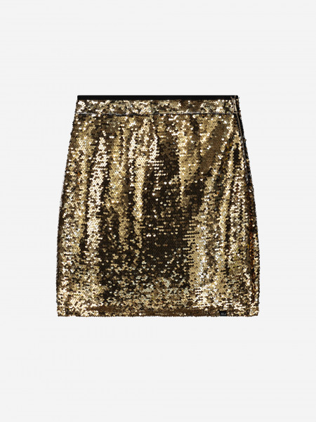 Gold and silver sequin skirt