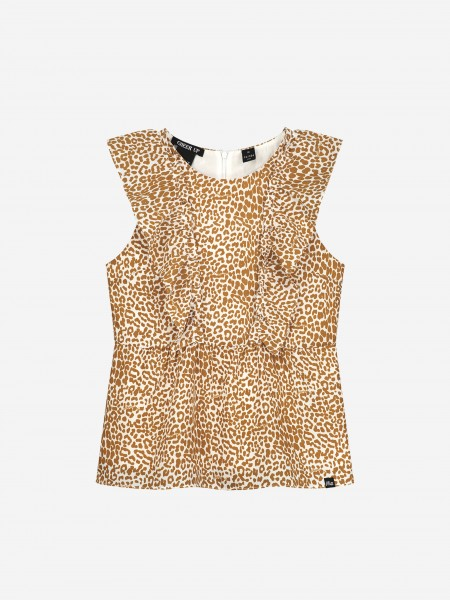 TOP WITH ALL-OVER ANIMAL PRINT