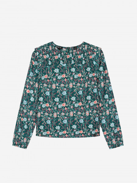 TOP WITH ALL-OVER FLOWER PRINT
